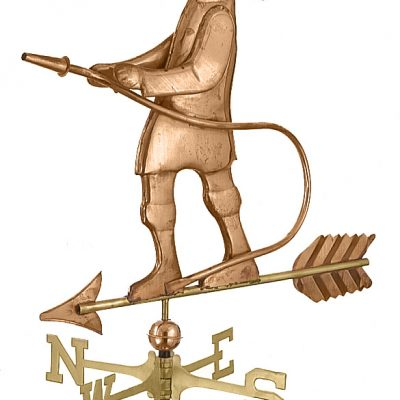 Polished Copper Fireman Weather Vane