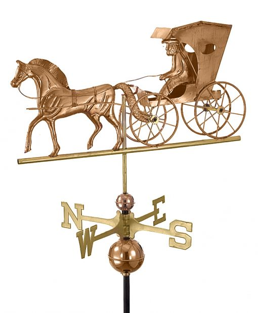 Polished Copper Country Doctor Weather Vane