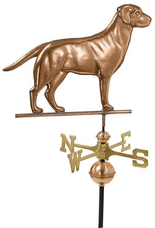 Pollished Copper Labrador Retriever Weather Vane
