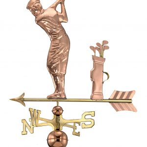 Polished Copper Golfer Weather Vane