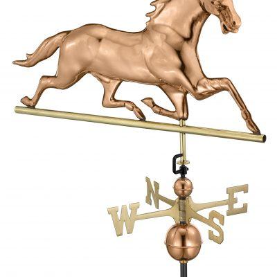 Polished Copper Horse Weather Vane