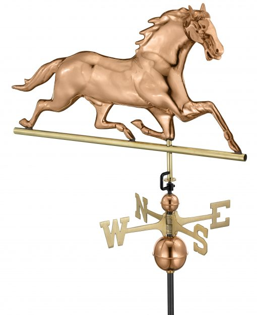 Polished Copper Horse Weather Vane