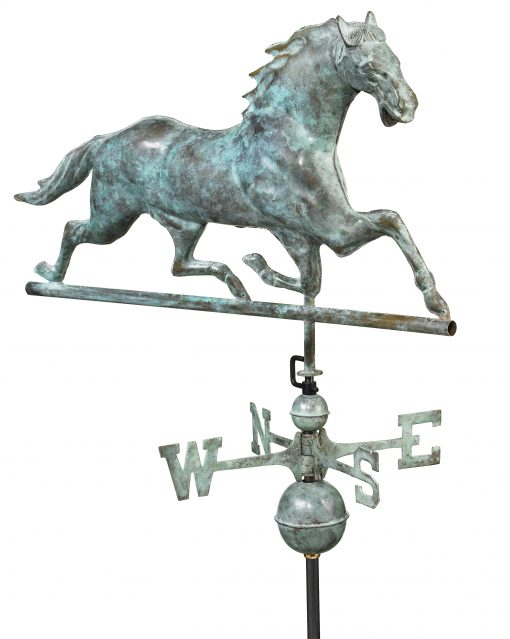 Blue Verde Horse Weather Vane