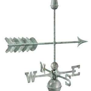 Blue Verde Arrow Weather Vane