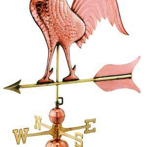 Polished Copper Barn Rooster Weather Vane