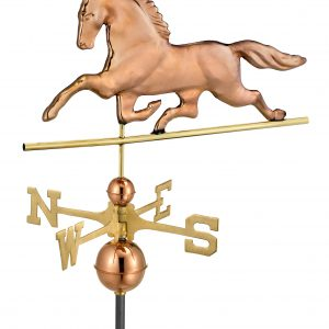 Polished Copper Patchen Horse Weather Vane