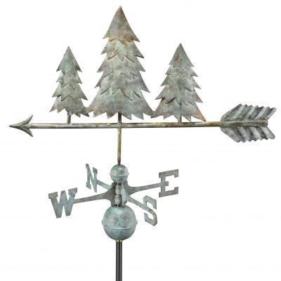 Blue Verde Pine Tree Weather Vane