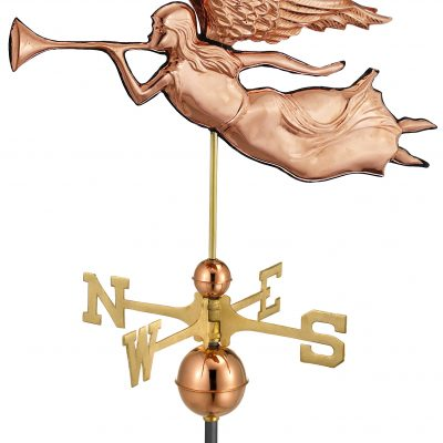 Polished Copper Angel Weather Vane