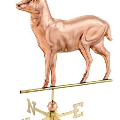 Polished Copper Standing Deer Weather Vane