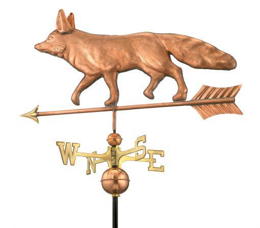 Polished Copper Fox Weather Vane