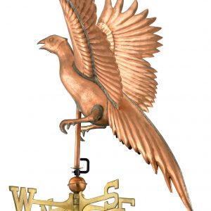 Polished Copper Pheasant Weather Vane