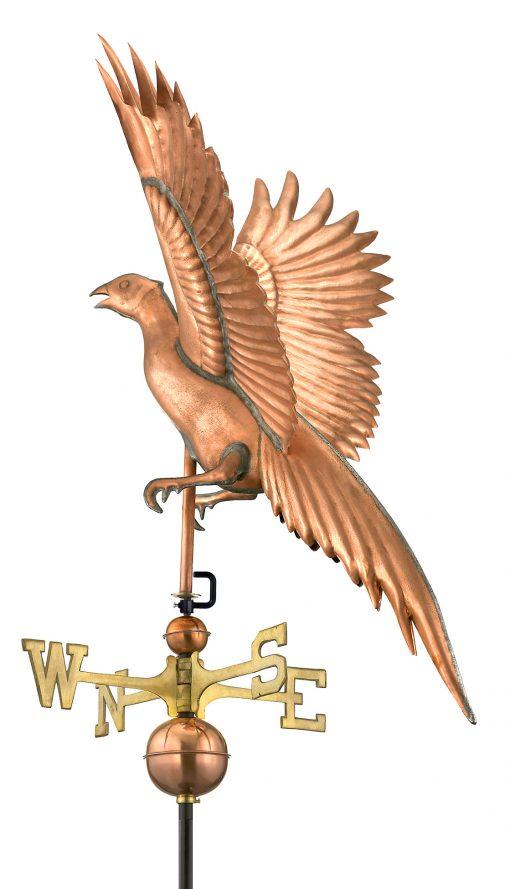 Polished Copper Pheasant Weather Vane