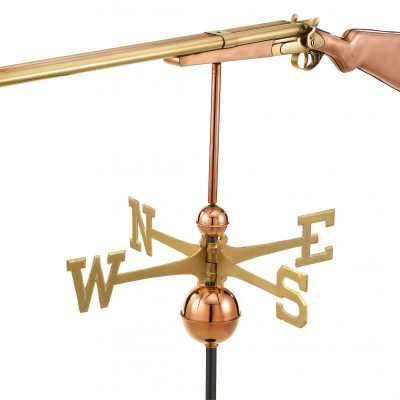 Polished Copper Shotgun Weather Vane
