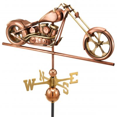 Polished Copper Chopper Weather Vane