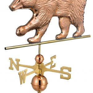 Polished Copper Bear Weather Vane