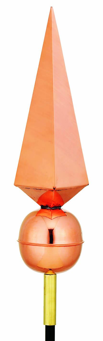 Lancelot Finial Weather Vane - Polished Copper