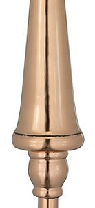 "Castle 24"" Finial Polished Copper Weather Vane"
