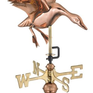 Polished Copper Duck Weather Vane