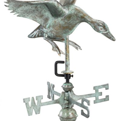 Blue Verde Duck Weather Vane