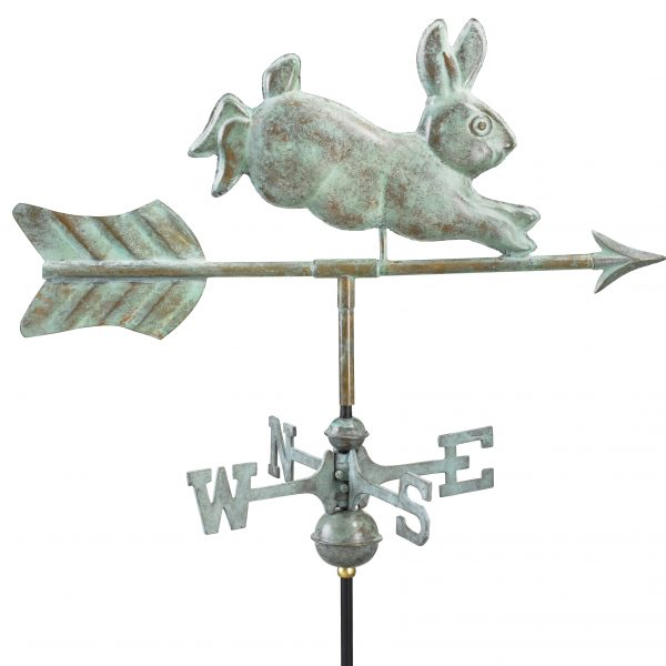 Blue Verde Rabbit Weather Vane