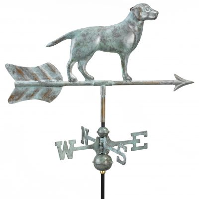 Blue Verde Labrador Retriever Weather Vane