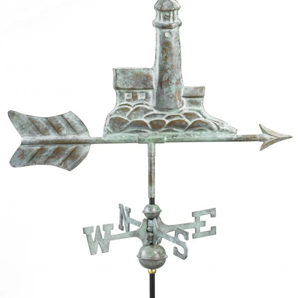 Blue Verde Lighthouse Weather Vane