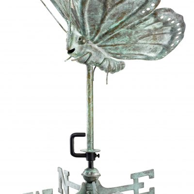 Blue Verde Butterfly Weather Vane