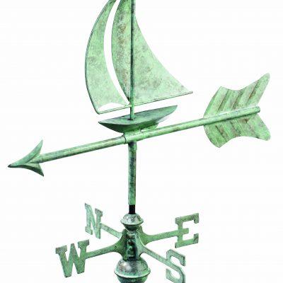 Blue Verde Sail Boat Weather Vane