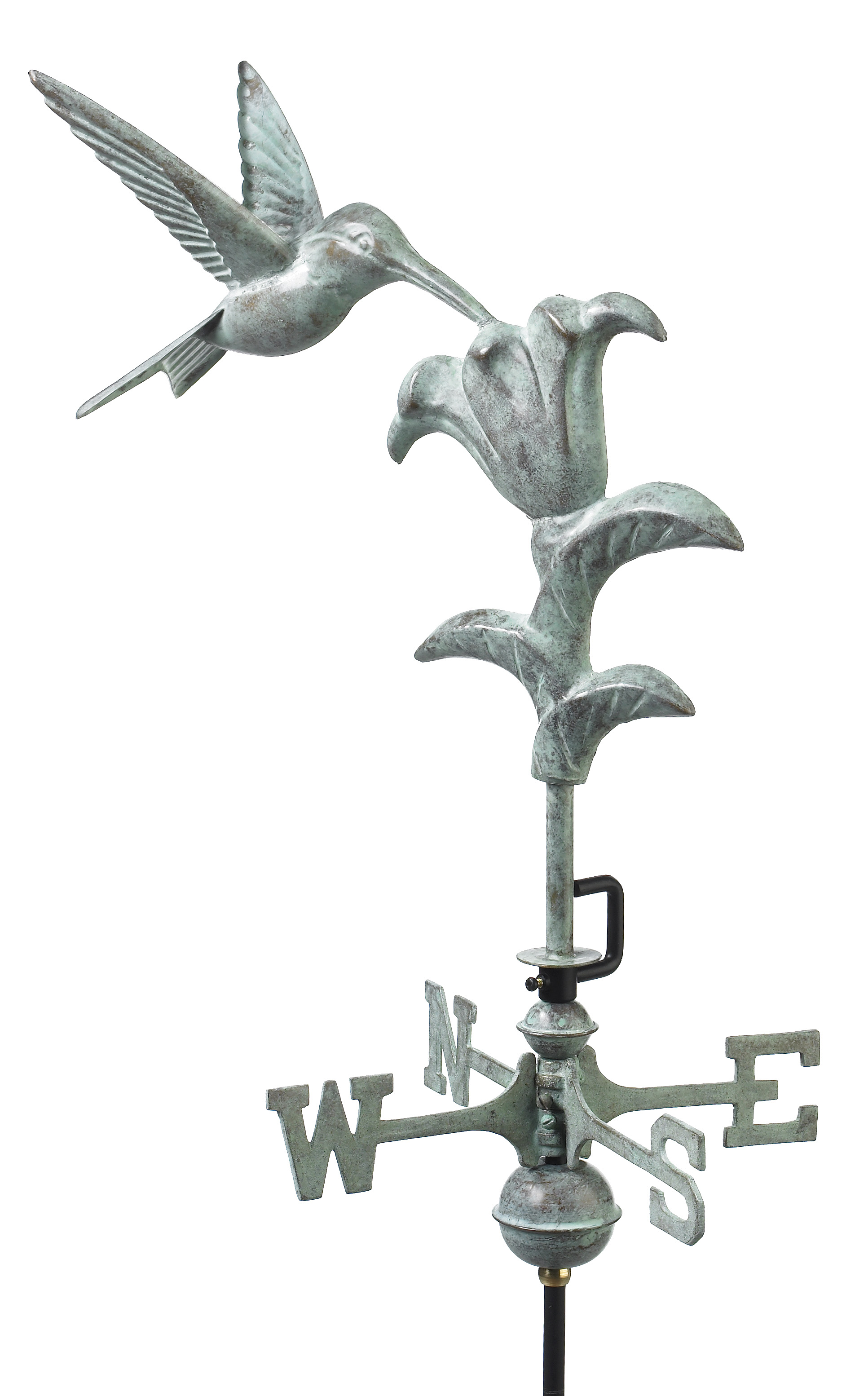 Blue Verde Hummingbird Weather Vane
