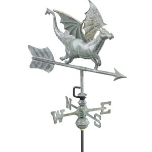 Blue Verde Dragon Weather Vane