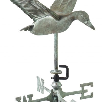 Blue Verde Flying Duck Weather Vane