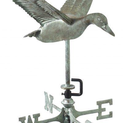 Blue Verde Flying Duck Weather Vane