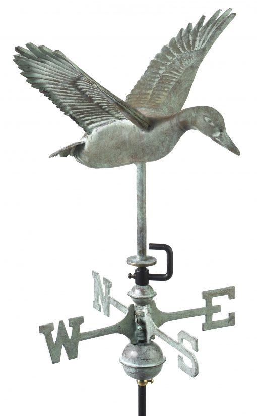 Blue Verde Flying Duck Weathervane Amish Built Inc
