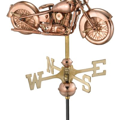Polished Copper Motorcycle Weather Vane