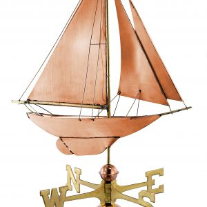 Polished Copper Sail Boat Weather Vane