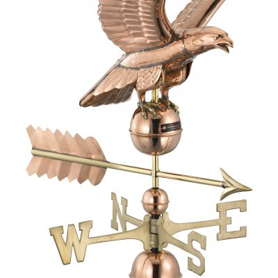 Polished Copper Eagle Weather Vane