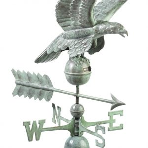 Blue Verde Eagle Weather Vane