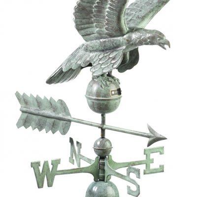 Blue Verde Eagle Weather Vane