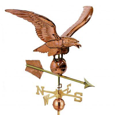 Polished Copper Large Eagle Weather Vane