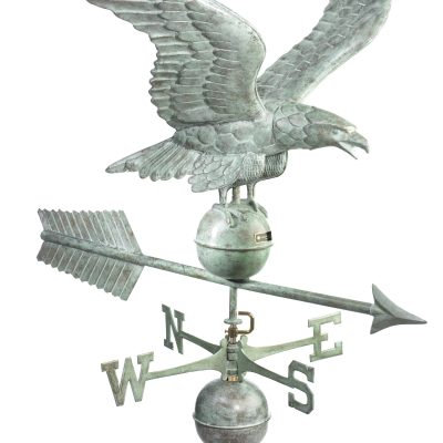 Blue Verde Large Eagle Weather Vane