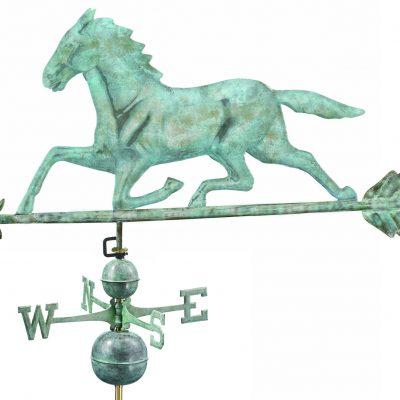 Blue Verde Horse Weather Vane