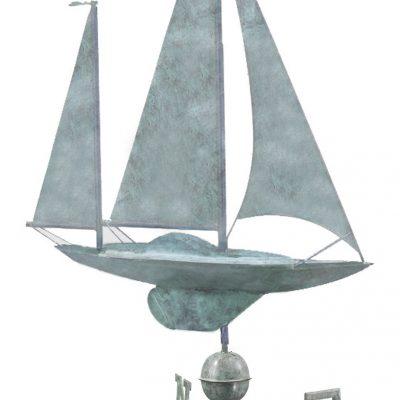 Blue Verde Large Sailboat Weather Vane
