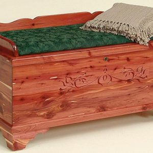 Amish Seat Rail Cedar Hope Chest