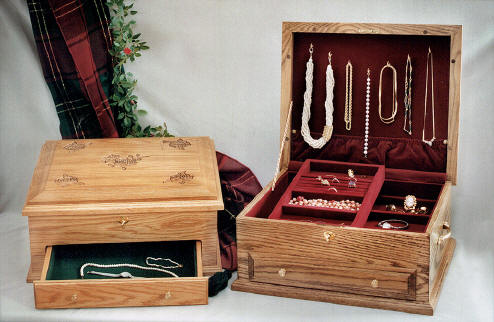Amish Oak Jewelry Chest