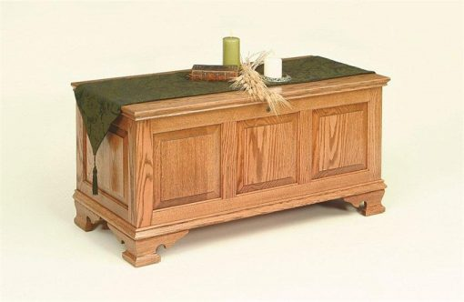 Amish Seat Rail Oak Hope Chest