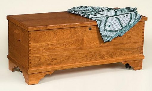 Amish Flat-Top Cherry Hope Chest