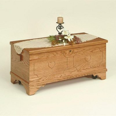 Amish Flat-Top Oak Hope Chest