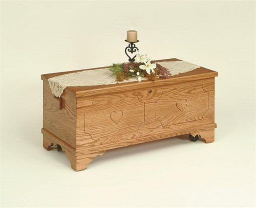 Amish Flat-Top Oak Hope Chest