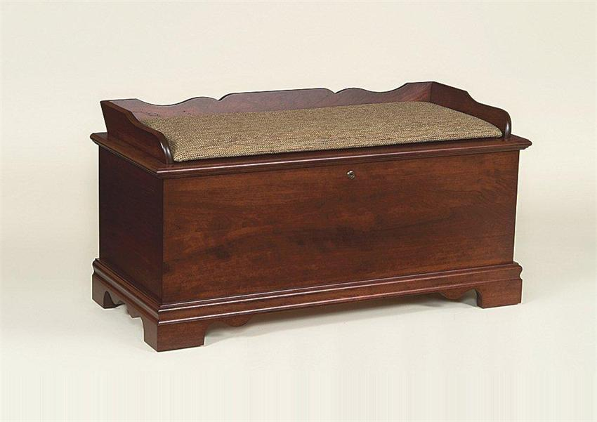 Amish Seat Rail Cherry Hope Chest