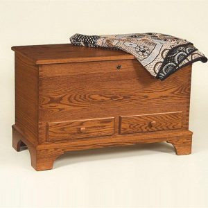 Amish Deep Storage Oak Hope Chest